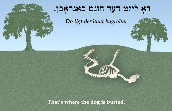 Yiddish: That's where the dog is buried.