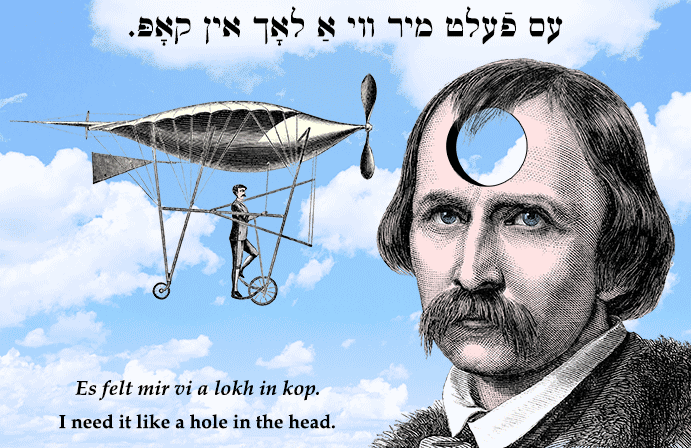 Yiddish: I need it like a hole in the head.